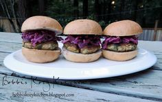 Bobbis Kozy Kitchen: Crispy Salmon Sliders with Lemon Dill Slaw #healthy #appetizers