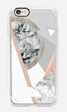 Casetify iPhone 7 Case and Other iPhone Covers - Marble and copper composition collage II by MARTA OLGA KLARA | #Casetify