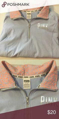 3/4 zip Yoga Top Used: but in excellent condition. Price is firm. PINK Victoria's Secret Tops Tees - Long Sleeve