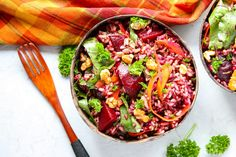 Roasted Beet Wild Rice Salad. Thissalad is unique, delicious, & super nutritious.