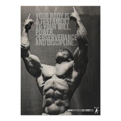 Healthy Fit Your Body Is A Testament - Bodybuilding Poster Posters - Shop Workout Fitness Gym Motivational Poster created by physicalculture. Personalize it with photos Training Fitness, Fitness Tips, Workout Fitness, Health Fitness, Easy Fitness, Men Health, Fitness Exercises, Health Club, Weight Training
