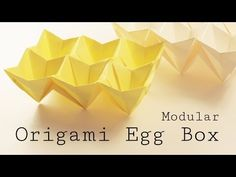 Origami Easter Egg Box Tutorial (Modular) A beautiful modular origami easter egg box tutorial, made from 6 pieces of square paper, difficulty is easy-medium. So cute for Easter!