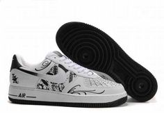 UK Market - Nike Air Force 1 Low Mens Mr Cartoon White Black Trainers
