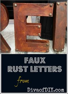 For an easy DIY project...we love these faux rust paper mache letters!