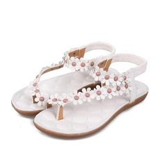 455f873e4c2278 Qisc Womens Shoes Women s Sweet Summer Bohemia Beaded Sandals Clip Toe  Beach Herringbone Sandals Shoes     Wonderful of you to have dropped by to  see our ...
