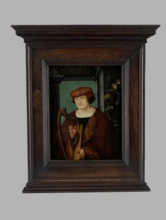 Portrait of the Lucerne humanist Johannes Zimmerman, circle of Hans Holbein, paint on panel, 1520, probably painted in Basel. Germanisches Nationalmuseum accession no. Gm1195