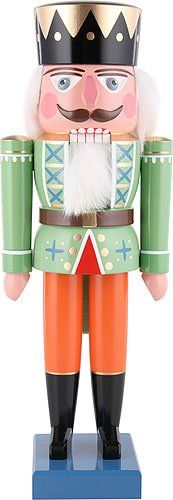 Dregano King Nutcracker Green Autumn Attire 35cm  138inch *** Read more reviews of the product by visiting the link on the image.