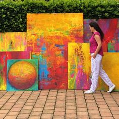 HAPPY COLORS COLLECTION - extra large abstract paintings by artist Eva Tikova Artist Painting, Abstract Paintings, Abstract Art, Happy Colors, Art Studios, Gallery, Collection, Roof Rack, Artist Studios
