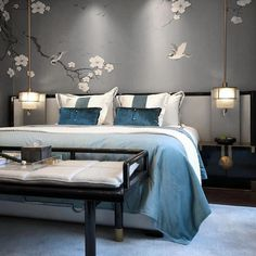 Asian Home Decor Examples Delightful ideas to make a appealing asian home decor bedroom beds Asian home decor suggestions imagined on this imaginative day 20190217 Modern Chinese Interior, Asian Interior, Oriental Bedroom, Japanese Bedroom, Rustic Kitchen Design, Asian Home Decor, 3d Models, Awesome Bedrooms, Luxurious Bedrooms