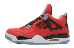 848221a186e8be Air Jordan 4 Retro Toro Bravo Fire Red White-Black-Cement Grey For Sale