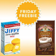 FREE Jiffy Corn Muffin Mix & Land O Lakes Cocoa Classics at virtually any store | SavingStar's Friday Freebie | Dorky's Deals