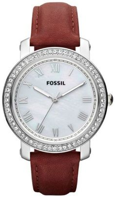 Fossil Emma Leather Watch Red Fossil. $96.51. Mineral Crystal. 50 Meters / 165 Feet / 5 ATM Water Resistant. Emma Collection. 38mm Case Diameter. Quartz Movement. Save 23% Off!