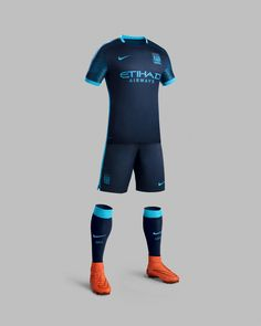 Club Anthem Inspires 2015-16 Manchester City Away Kit  Manchester City's new away kit honors its passionate legion of fans, who proudly sing the club's celestial-inspired anthem, with a lunar print on both sleeves.
