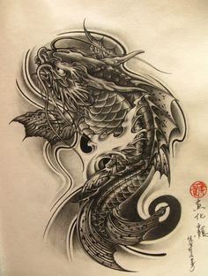 Chinese fish tattoo design for girls