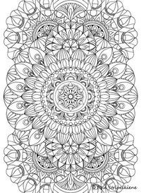 Coloring Page For Adults Wheel Mandala By Egle Stripeikiene Size