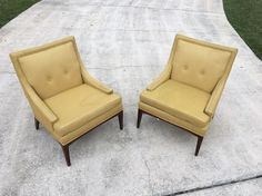Delightful mid Century Modern Slipper Chairs by Harvey Probber for John Stuart. They are structurally sound, comfortable and will need upholstery. The springs and foam are solid. | eBay!