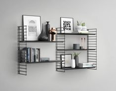 Buy this Tomado frame + 2 shelves bookshelf extension for just € Extension set for Tomado wall rack White Shelves, Metal Shelves, Floating Shelves, Shelving, 60s Furniture, Home Decor Furniture, Home Living Room, Living Spaces, String Shelf