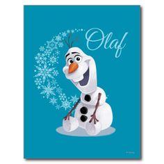 Olaf Snowflakes Post Card