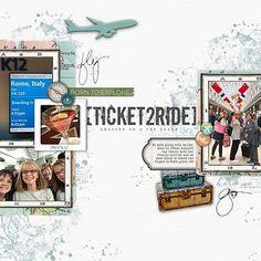 Ticket to Ride #airportdeparture #adventures LT #jetplane #designerdigitals #digitalscrapbookpages