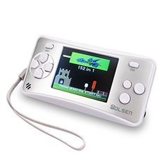 WOLSEN 2.5 LCD Portable Game Console Speaker (3 X AAA) handheld video games (Silver)