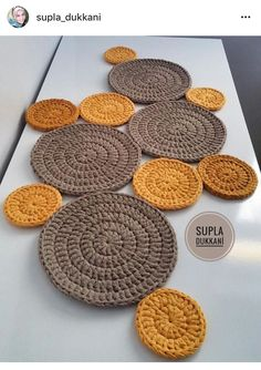 Runner - Supla - Mop Models for Your Houses in Supla Shop - Salvabrani - Nursel Kara - - Runner - Supla - Mop Models for Your Houses in Supla Shop - Salvabrani - Nursel Kara Study In Circles Crochet Motif Table Runner Pattern - Salvabrani Several Crochet Crochet Home, Crochet Crafts, Crochet Doilies, Fabric Crafts, Crochet Baby, Crochet Projects, Knit Crochet, Crochet Table Runner, Table Runner Pattern