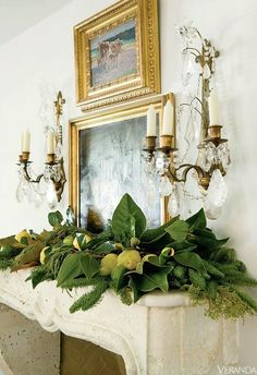 Christmas Decorating Ideas | Laurel Bern Interiors | my favorite Christmas mantel ever by Lisa Luby Ryan