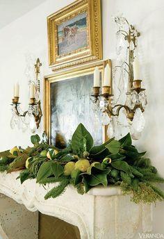 Christmas Decorating Ideas | Laurel Bern Interiors | my favorite Christmas mantel ever by Lisa Luby Ryan