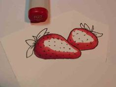 Strawberry with copics. Check out her blog it is so Copic educational!