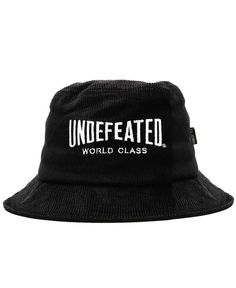 e39bcd30f08 UNDEFEATED - WORLD CLASS BUCKET HAT (BLACK)