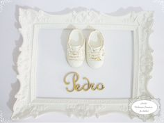 Quadro Porta Maternidade Sapato Menino