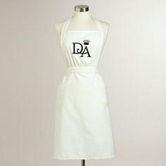 Downton Abbey Collection ~ Downton Abbey Mrs.  Patamore Apron #WorldMarket Holiday Gifts, #DowntonAbbey #spon