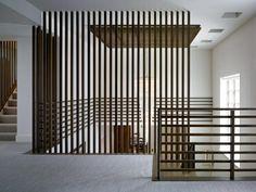 vertikales geländer moderne treppen gestalten