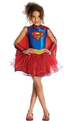 Let Your Little Hero Shine In This Supergirl Costume! This Toddler Superhero Costume Features A Sleeveless Metallic Blue Dress With Glitter Supergirl Emblem, Attached Red Glitter Tutu Skirt And Gold Belt. Also Included Is The Red Satin Cape Trimmed With B Toddler Superhero Costumes, Superhero Fancy Dress, Halloween Costumes For Girls, Halloween Fancy Dress, Cool Costumes, Costumes Kids, Blue Superhero, Superhero Party, Costume Halloween