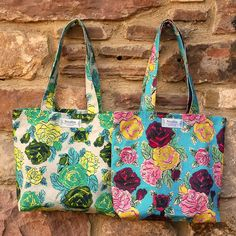 April Floral, fold-away shoppers (£16.00) printed and made to order by Rosablue