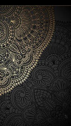 Mandala wallpaper vintage wallpaper background mandala design in Iphone Wallpaper Mandala, Gold Wallpaper Phone, Pearl Wallpaper, Paisley Wallpaper, Cellphone Wallpaper, Black Wallpaper, Custom Wallpaper, Pattern Wallpaper, Wallpaper Backgrounds