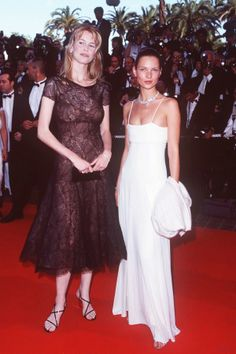 My Favorite Cannes Moments | Claudia Schiffer and Kate Moss, 1998