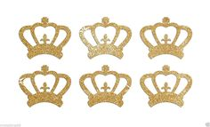Amazon.com: 24 Gold Crowns Self Adhesive Glitter Stickers Card making craft diy 1 inch