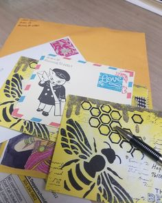 Making a trip ti the post office. This weeks #outgoingmail. What fun it was to get some writing done. #envy #envelope #mailart #snailmail #snailmailrevolution #swap #sendmoremail #penpal #penfriend #post #mail #postcrossing #makersgunnamake