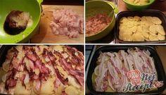 Pečená kuřecí prsa s bramborami v jednom pekáči