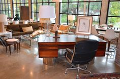 Mid Century Retro Vintage Rosewood and Chrome Executive Desk | Pinned by 360 Modern Furniture