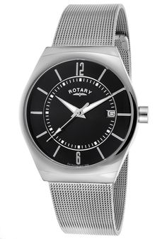 Rotary Men's Stainless Steel Black Dial Tounneau - Watch GB00033-19,    #Rotary,    #GB0003319,    #WatchesFashionQuartz