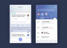 Blue Card Task – User interface by Glebich Mobile Ui Design, Mobile Application Design, Web Design, App Ui Design, User Interface Design, Android Design, Brochure Design, Layout Design, Graphic Design