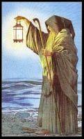 The Hermit - Sharman Caselli tarot The Hermit Tarot, Owl Tattoo Drawings, Le Tarot, Magic Crafts, Arte Obscura, Tarot Card Decks, Major Arcana, High Fantasy, Traditional Paintings