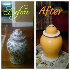 Before & after: DIY Painted Vase