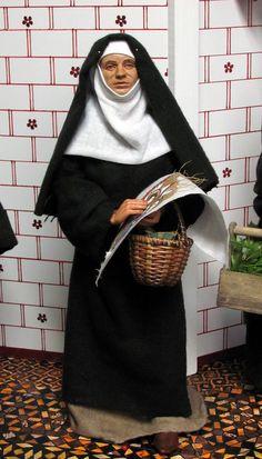 Benedictine Nun in 1/6 scale. 14th century York