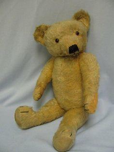 Vintage Merrythought c1940 TEDDY BEAR Mohair, Label  Glass Eyes