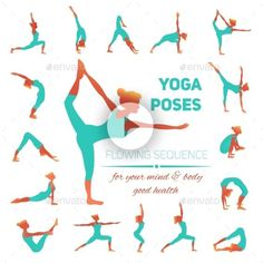 Yoga poses icons vector 3691456 - by macrovector on VectorSt.- Yoga poses icons vector 3691456 – by macrovector on VectorStock Yoga poses icons vector 3691456 – by macrovector on VectorStock - Yoga Fitness, Fitness Workouts, Health Fitness, Pilates, Yoga Stretches For Beginners, Yoga Exercises, Yoga Tips, Beginning Yoga, Yoga Illustration