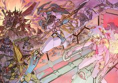 Nia from Tengan Toppa Gurren Lagann Mecha Anime, Yandere, Nia Gurren Lagann, Fan Art Anime, Gurren Laggan, Hd Wallpaper, Wallpapers, Alien Art, Bodysuit