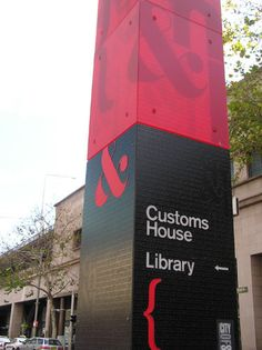 Detail of aluminium base showing detailed decorative etched text & backlit detail. Customs House, Home Libraries, Wayfinding Signage, Graphic Design, Signs, Architecture, Base, Detail, Arquitetura