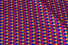 Multicolor hexagon motif brocade  #brocade #fabrics #india #textile #prints #patterns #blouse #saree #silk